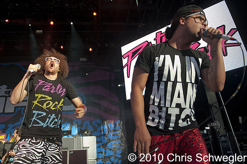 LMFAO - 06-15-10 - The Bamboozle Roadshow, DTE Energy Music Theatre, Clarkston, MI