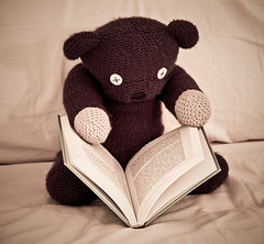 Teddy (Alberto Grego Photography ) Tags: book bed teddy libro lettura letto orso leggere mrbean canon500d orsetto 24105l