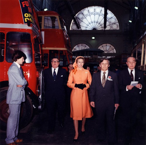 Princess Anne at the opening of London's Transport Museum