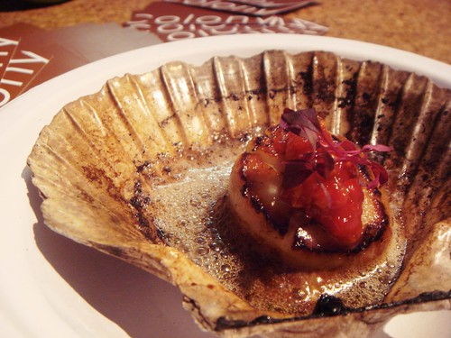 Colony Bar and Grill - Grilled Scallop with Chilli, Garlic and Yuzu Butter