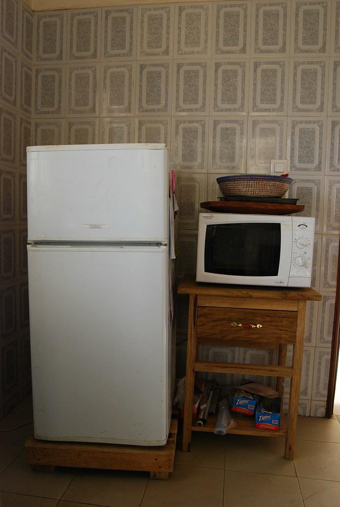 Refrigerator, Microwave stand