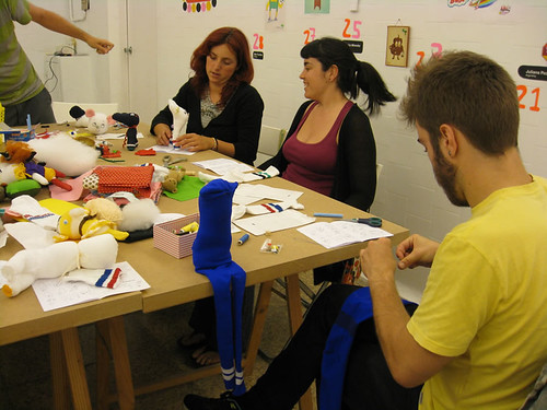 Sock mascots workshop by Misako Mimoko