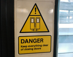 DLR Door - Warning sign