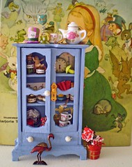 Alice in Wonderland Enchanted Miniature Cabinet Set w/ Free Standing Bucket of Roses and Vintage Enameled Wearable MINT Flamingo Pin ~1:12th Scale (Enchanticals~ Death in Family) Tags: china wood red roses food baby white mushroom glass metal fairytale vintage cards pig miniature key paint pin time cabinet furniture handmade alice flamingo caterpillar doorway timepiece jackinthebox eatme teacups teapot collectible etsy childrensbook clocks madhatter enchanted aliceinwonderland pocketwatch lewiscarroll queenofhearts enamel deckofcards drinkme chesirecat clockfaces miniaturefood childrensstories alteredfurniture redhearts 112thscale dollhouseminiature onetwelfthscale artistmade minimakers faeteam miniaturedoors damteam teammids enchanticals miniaturedollhousescale minitreasures handcraftedminiatures enchanticalsetsy miniaturesindollhousescale miniaturecollector 112scaledollhousescale miniaturesgeneral fantsycrafts estsyhandmadeandvintage miniaturedollhousefurniture littlethingsdontmakeascene