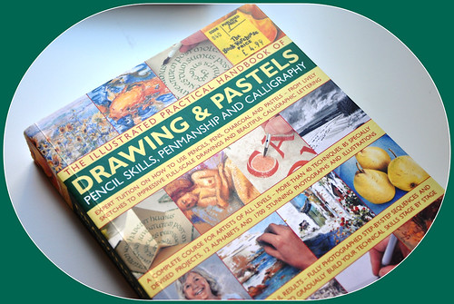 Drawing & pastels. My new book bought in London