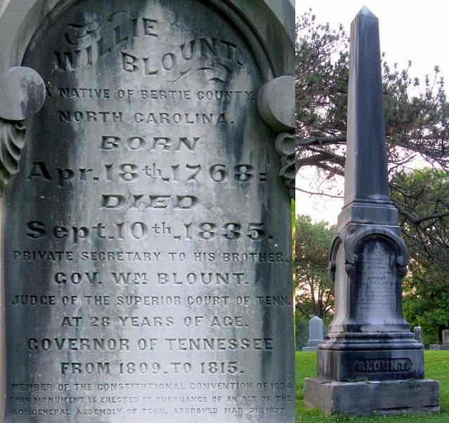 Gov. Willie Blount gravesite