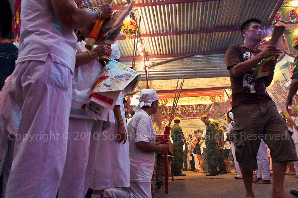Waiting @ Nine Emperor Gods Festival, Ampang, Malaysia