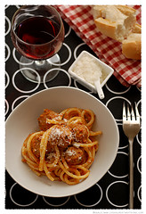 Bucatini with Turkey Meatballs© by Haalo