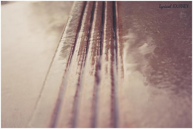 Rain - Reflection on a step