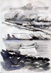 richard's boat - donegal (canon 1) Tags: boats sketch seaside marine harbour donegal harbours killybegs stjohnspoint buoyant sketchbookpages