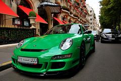 Porsche 997 GT3 RS (navnetsio) Tags: auto 3 paris france green car matt groen flat 911 spot mat exotic porsche gt rs parijs matte carrera exotics gt3 997 wagen gespot agai autogespot autoinformatief