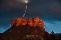 Thunder in Sedona (jbarc in BC) Tags: red arizona sky storm rock night power sedona lightning thunder totalphoto passionphotography platinumphoto elitephotography