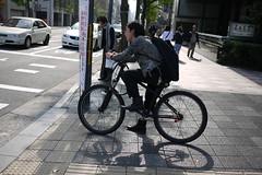Cyclist Kawaramachi Oike