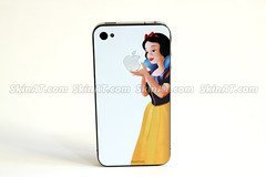 Snow white iPhone4 Skin decal sticker