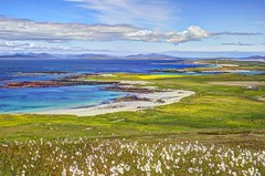These days are mine (pauldunn52) Tags: griminish beach valley north uist harris sea cotton grass scotland