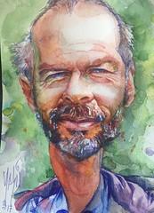travelsketcher / Martin Blitzskizz for JKPP (masil62) Tags: masil acuarela watercolor boligrafo ballpen jkpp spain españa sevilla sketch portrait retrato