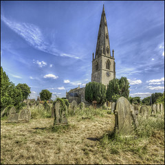 Olney Churchyard (Darwinsgift) Tags: olney churchyard church graves graveyard st peter paul bucks buckinghamshire hdr nikkor pc e 19mm f4 nikon d810