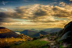 Kingdom (Mr Bultitude) Tags: kingdom mourne silent valley reservoir irish sea mountains ireland northern evening