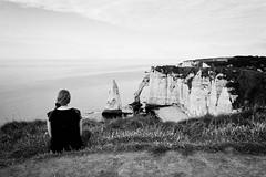 Black & White: Meditation (macplatti) Tags: étretat normandy france fra