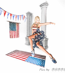 Glory Days - 4th of July (Poppys_Second_Life) Tags: naturism patriot patriotism glorydays popi popikone popikonesadventuresin2l popisadventuresin2l 2l secondlife virtualphotography poppy picsbyⓟⓞⓟⓟⓨ sl stars stripes flag usa starspangledbanner america independenceday july4th celebration celebrating