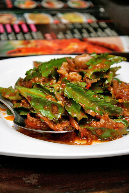 Signature Winged Bean with Cuttlefish and Chili