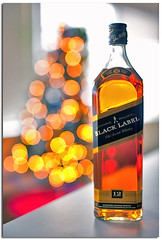 Happy Holidays Bokeh (YYZDez) Tags: christmas holiday festive bottle bokeh cheers whisky blacklabel johnniewalker scotchwhisky hbw johnniewalkerblacklabel walkerskillmewhisky