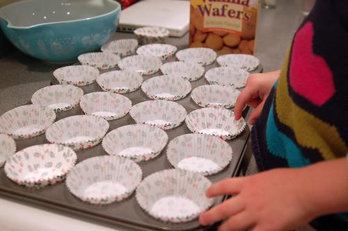 Muffin cups.