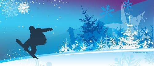 Blue Snowboarder