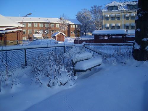 Snö i Nyköping