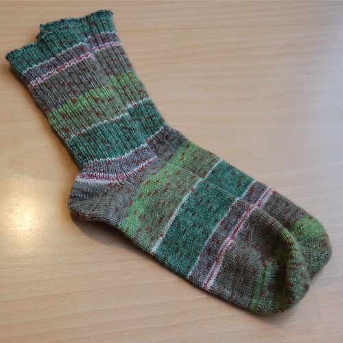 Socks from aloe vera yarn