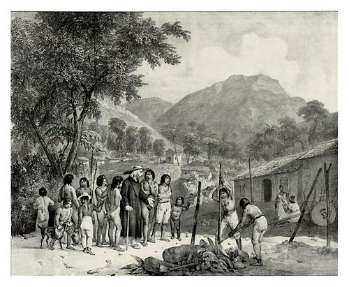 016-Aldea de los Tapuyos-Adam Victor- Viagem pitoresca através do Brasil 1835