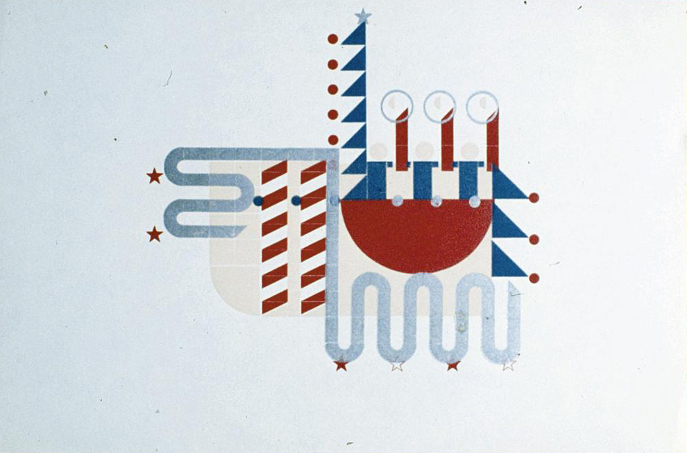 Alvin Lustig christmas card 1938-42