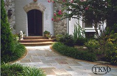 Patterned Flagstone Walk and Molded Brick Steps (Kings Masons) Tags: walkways top10 entriespostsmailboxes