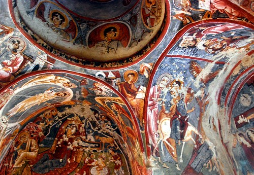 cave church ceiling, capadoccia