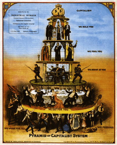 Capitalism Tower Cartoon