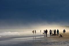Beach, mist and impending storm (Tim J Keegan) Tags: sea mist storm beach water still sand salt australia nsw ethereal huntervalley lakemacquarie twtmeiconoftheday karmapotd karmapotw redheadbeach the400