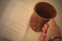 Memorizing (3/365) (countrycuban) Tags: woman selfportrait coffee lady book drink mug script ourtown