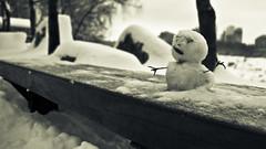 (RandomDharmaBum) Tags: winter blackandwhite outdoor seoul snowmen southkorea 2010 muted fis inthepark tamron1750mmf28xrdiii flickrinseoul canoneos7d