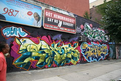 Got hemorrhoids? (carnagenyc) Tags: nyc newyork brooklyn graffiti host tenz 41shots dym host18 stae2