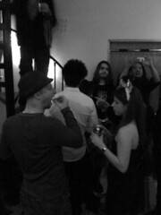 NYE 2010 (Anagnorisis Art Project) Tags: party loft brooklyn nye newyearseve loftparty 2010 artexhibit danielleezzo anagnorisis camdeleon teeteringbulb carrieannbaade christopherconte samanthalevin caitlinhackett heathergargon alexpassapera nikkisneakers danouellette paulloughney