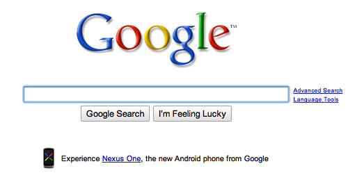 Nexus One on Google.com
