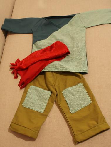 kleertjes voor Nand de klaspop