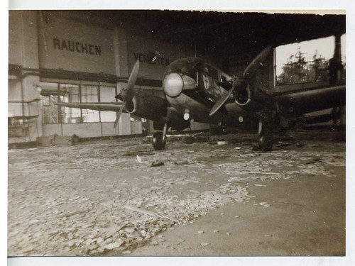 German warplane, Belgian airfield