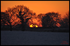 Sunset And Snow 05 (Kirk09) Tags: uk ireland sunset england orange sun snow west colour silhouette yellow set wales scotland europe shine cheshire bright snowy united east crewe souther and colourful shiney northern blizzard kindom smallwood sandbach