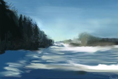 Subzero Sunny Country Road