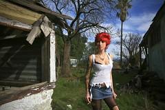 Day 9: A Flower (Zim Killgore) Tags: california red woman flores girl tattoo canon photography surreal l 5d series zim angela trashy murrieta killgore 1625m