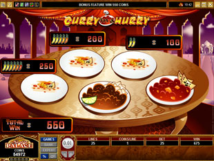 free Curry in a Hurry gamble bonus game