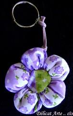 Chaveiro ..  (delicatarte) Tags: flores flor fuxico presente presentes chaveiro chaveiros