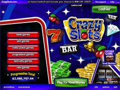 Crazy Slots Casino Lobby