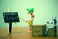 Basic Mathematic For Trooper (achew *Bokehmon*) Tags: storm trooper black japanese starwars student board sony 11 class teacher stupid writting alpha mathematic yotsuba danbo a850 chulk danboard